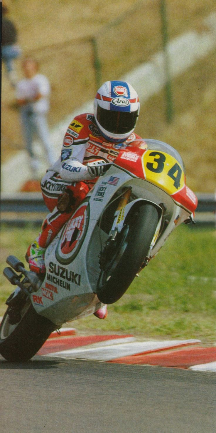 Kevin Schwantz... shows his style through and through