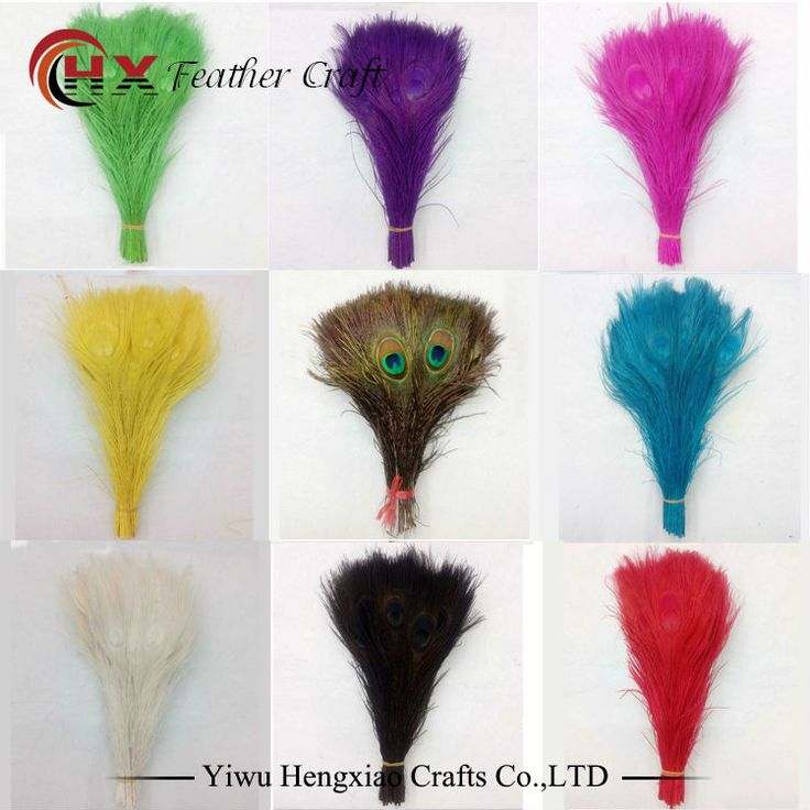 Factory Wholesale 50pcs/lot 25-30cm /10-12 inch Length DIY dyed Peacock Feathers for decoration cosplay Costume Wedding