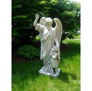 Guardian Angel Childu0027s Prayer Garden Statue
