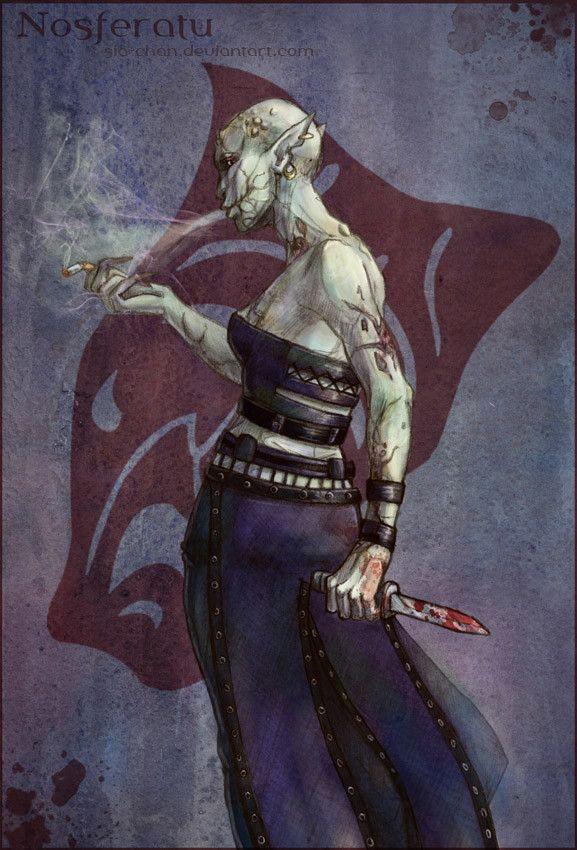 Camarilla Lady (Female Nosferatu from Vampire the Masquerade: Bloodline), Maria Antonova on ArtStation at https://www.artstation.com/artwork/VaRJn