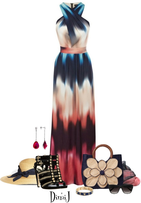 """""""Maxi Dress"""" by dimij on Polyvore"""