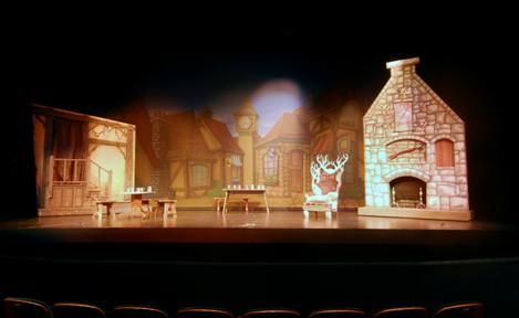 "music man set design | Click here to view more stage images of ""Beauty and the Beast""."