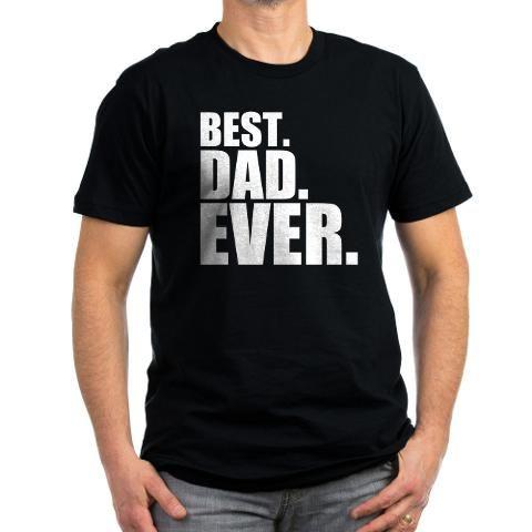 Best. Dad. Ever. Men's Fitted T-Shirt (dark)