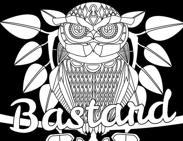 Bastard - Adult Coloring page - swear  14 FREE printable