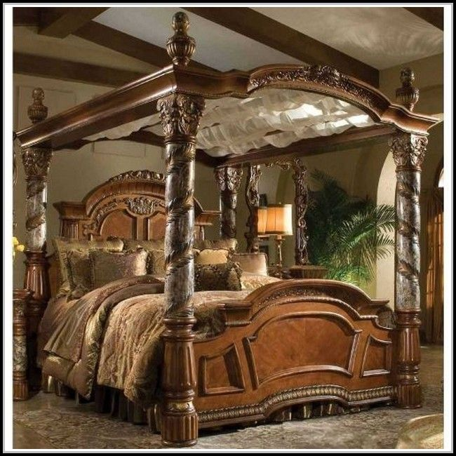 californian king sized canopy bed - Google Search