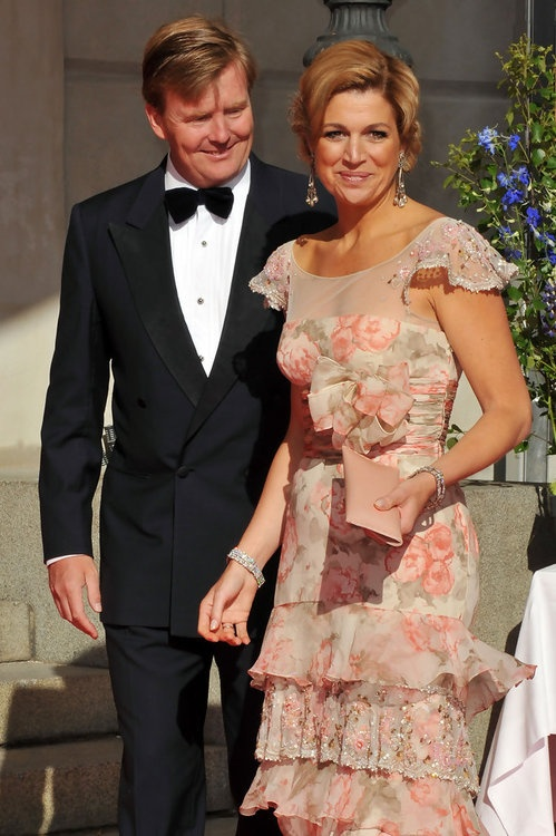 tripleaprincesses: Crown Princess Maxima (with Crown Prince Willem-Alexander)