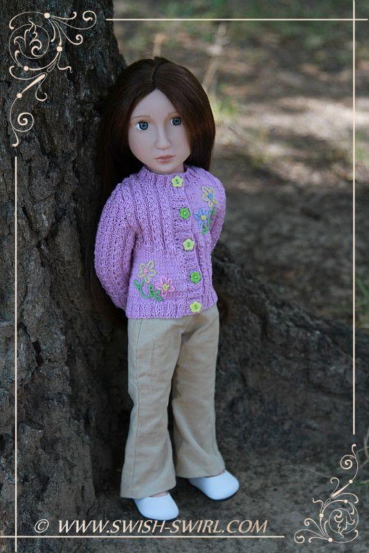 Lavender cardigan for Matilda « Swish and Swirl blog