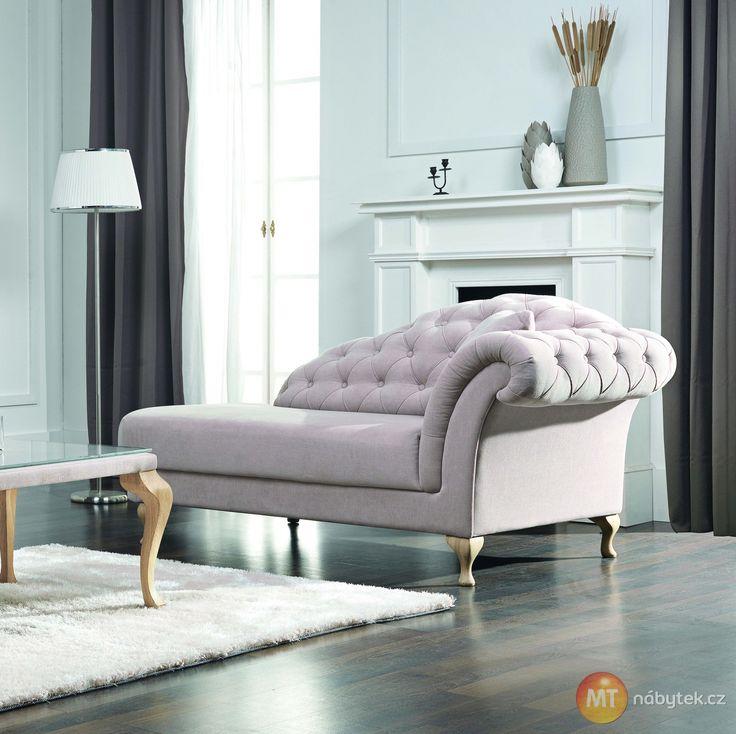 Elegantní čalouněný otoman Chantal v zámeckém stylu #settee #sofa #divan #couch