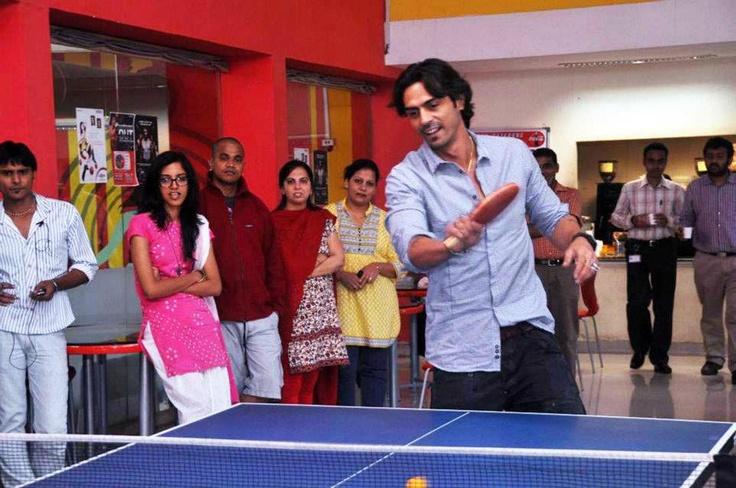 Arjun Rampal enjoying a game of table tennis at zoOm