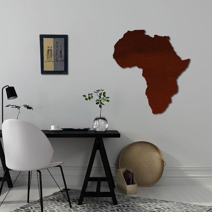 Ornamento decorativo in metallo AFRIKA. Disponibile in più formati e finiture. www.nikla.eu  #niklasteeldesign #ornamenti #arredi #bacheche #bachecamagnetica #calamite #viaggi #corten #collezione #vacanze #ricordi #Italy #ornament #designmadeinitaly #magneticboard #magnetic #trip #holiday #travel #africa