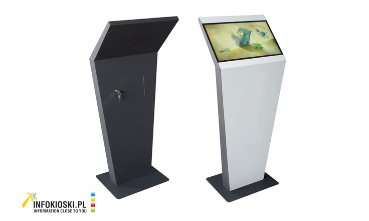 Slim interactive terminal with a dibond finish