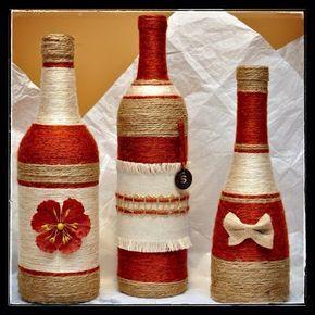 25 best ideas about botellas decoradas para navidad on pinterest adornos antiguos de navidad - Botellas decoradas navidenas ...