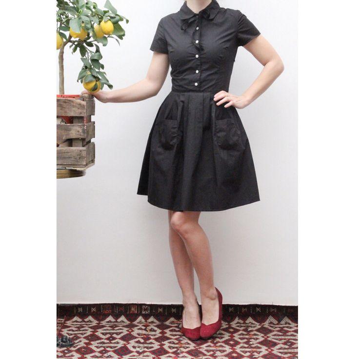 Little black 50's dress Ninon Retro spring collection  Www.Ninonretro.fr