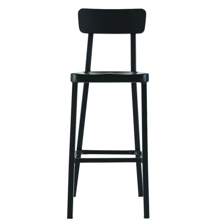 Home Decorators Collection Jacob Stackable Aluminum Bar Stool in Black-1920900210 - The Home Depot