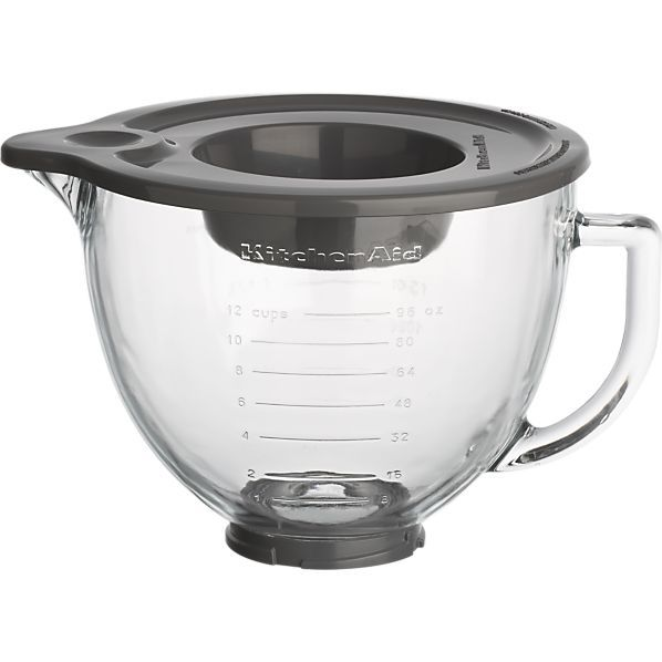 KitchenAid® Stand Mixer Glass Mixer Bowl in Mixers | Crate and Barrel