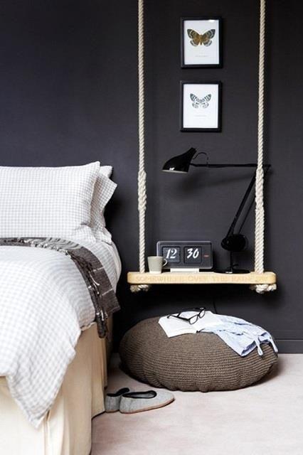 On adore cette table de chevet suspendue! Très original! :) www.suenomobilieretaccessoires.com https://www.facebook.com/suenomobilieretaccessoires?fref=ts