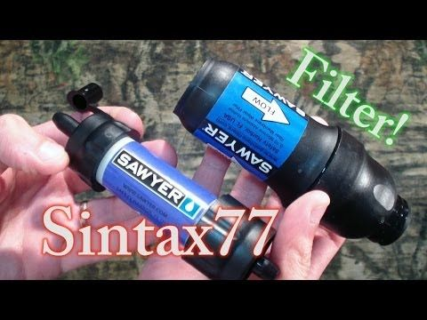 Sawyer Mini Vs Saywer Squeeze Water Filter System - YouTube