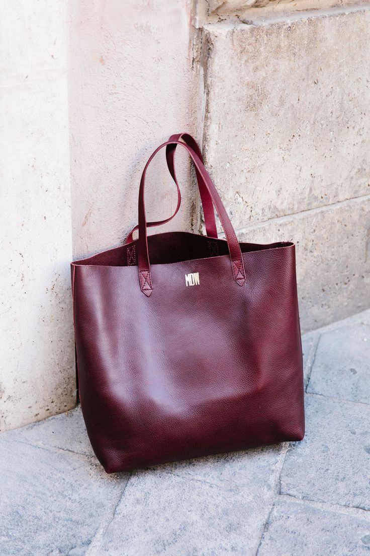 madewell transport tote in dark cabernet. #everydaymadewell