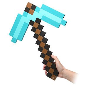 straight from the workbench this replica diamond pickaxe will keep you mining even when you