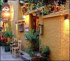 Avli Restaurant, Aegina Greece