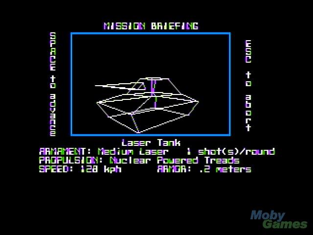 Stellar 7 Apple II Mission briefing