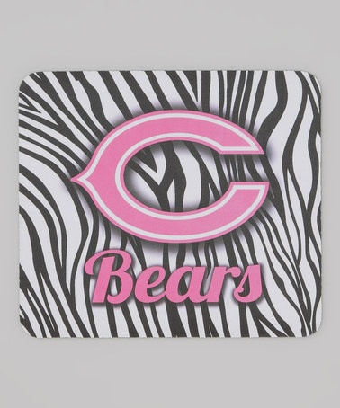 Take a look at this Zebra Chicago Bears Mouse Pad by Hunter on #zulily