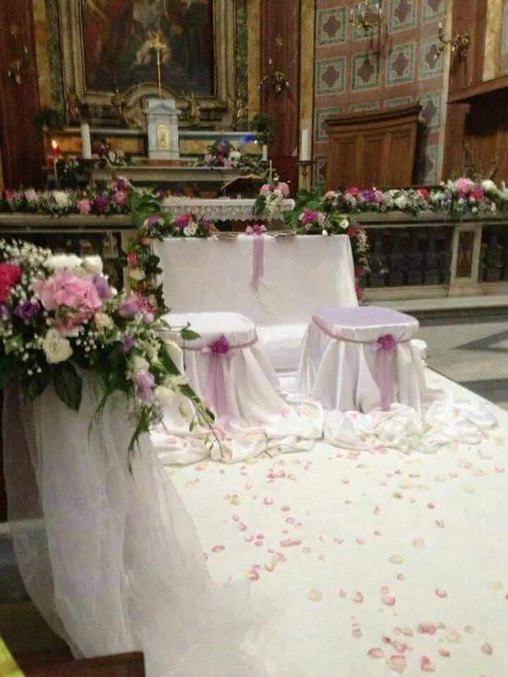 Allestimento matrimonio in chiesa