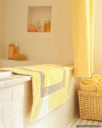 Ванна желтый декор