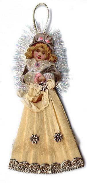 Vintage-inspired Christmas ornament.