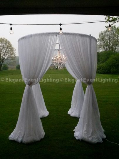 Gorgeous circular Chuppah adorned with a Crystal Chandelier in the center! Beautiful! & 22 best Ceremony Chuppah u0026 Bridal Canopies images on Pinterest ...