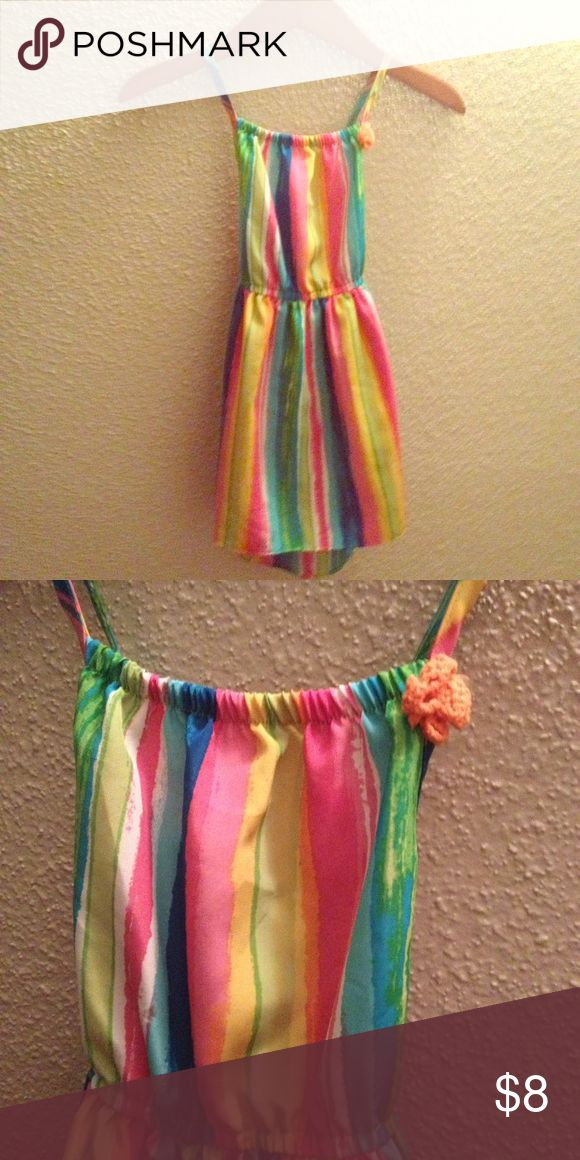 Beautiful Spring/Summer Dress Very cute cross back high low dress! Worn once. Dresses Casual