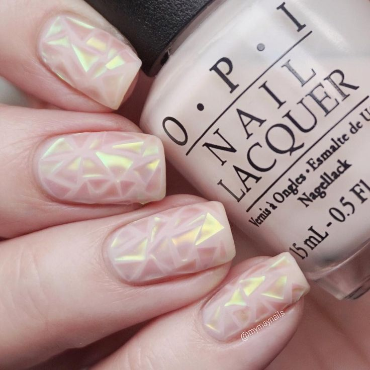 Shattered glass nail art.                                                                                                                                                      More