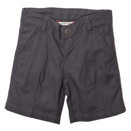 classic and classy, these lightweight boy's linen shorts in versatile blue rock/grey by popular children's clothing brand, fox