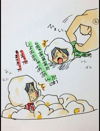 sakurai and aiba, popcorns