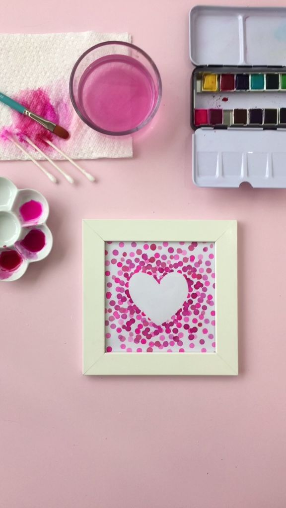 DIY Watercolor Heart Art