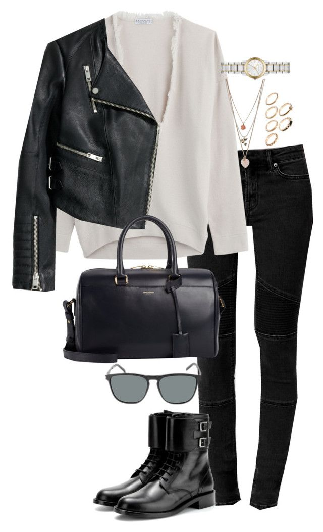 """""""Untitled #474"""" by sofia-608 ❤ liked on Polyvore featuring AllSaints, Brunello Cucinelli, H&M, Yves Saint Laurent, Miss Selfridge, ASOS and Burberry"""