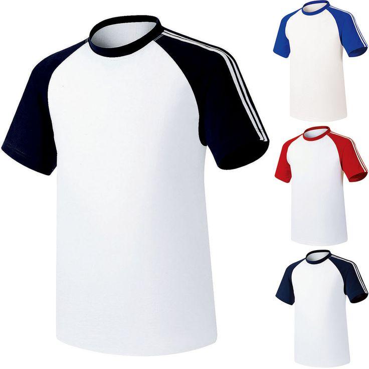 Mens Baseball Raglan Team T-Shirts Jersey Blank Tee Dry Coolon Short Sleeve Tops #hellobincom #BaseballRaglanCrewNeckTShirtShirtsTops