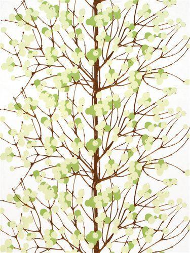 Marimekko fabric Lumimarja 065175.160 green