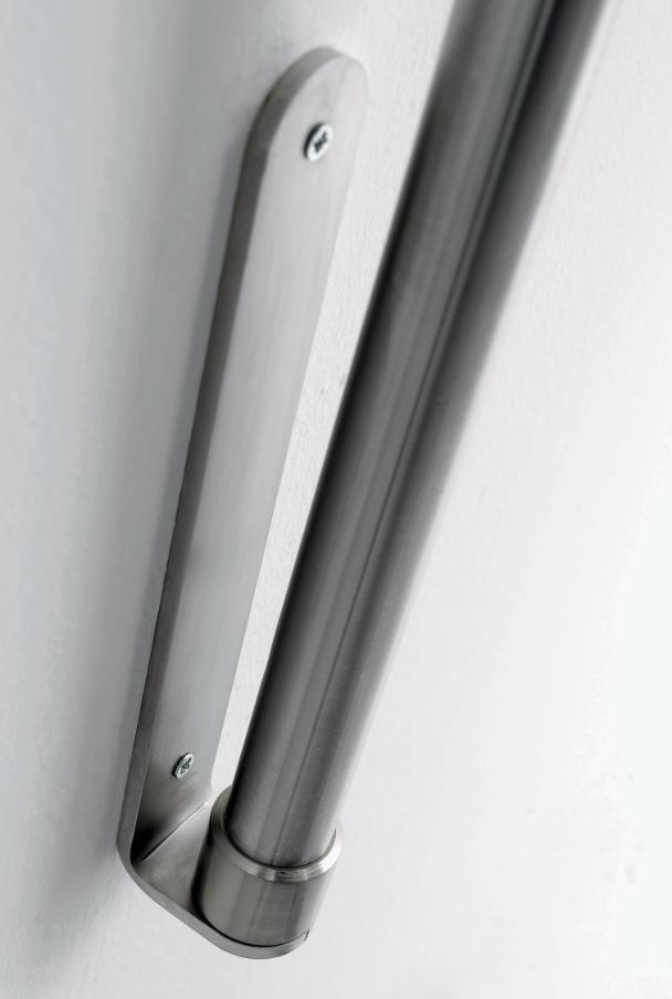 BOING LAMPADA DA PARETE AD ARCO IN METALLO NICHEL SPAZZOLATO Illuminando - Piantane e Lampade moderne da terra codice BOING G PARETE