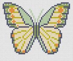 Χειροτεχνήματα: Σχέδια με πεταλούδες για κέντημα / Butterfly cross stitch patterns