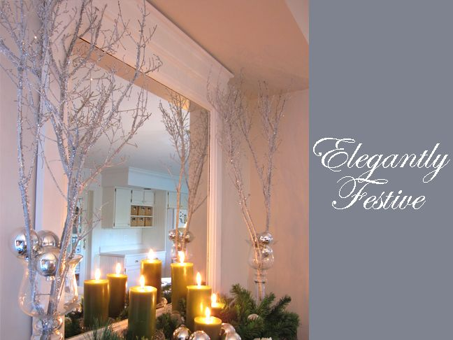 Winter Theme Ideas:   Making Sparkly Branches