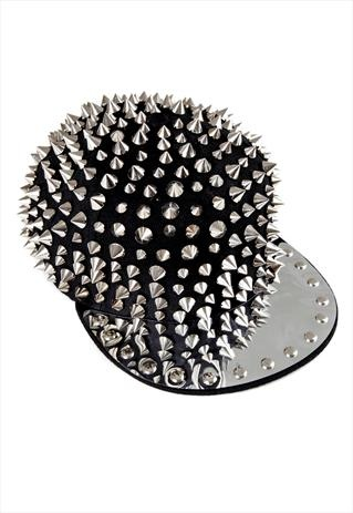 SPIKES AND STUDDED SNAPBACK CAP BLING