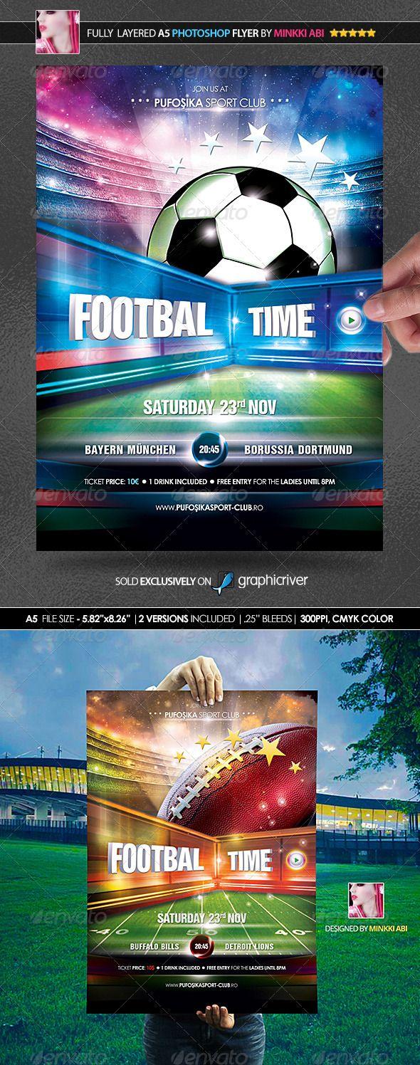 European & American Football Poster/Flyer