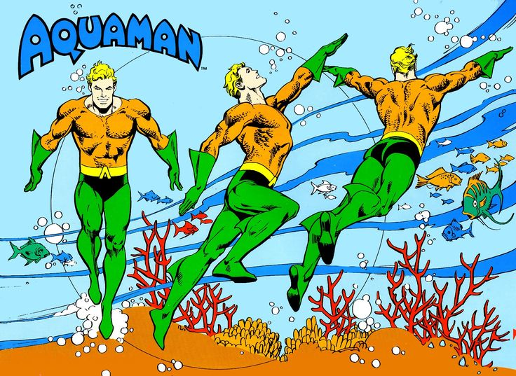 Aquaman by José Luis García-López from the 1982 DC Comics Style Guide