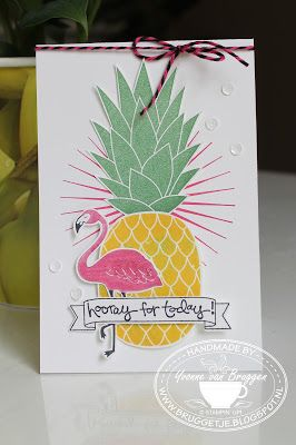 Yvonne is Stampin' & Scrapping: Stampin' Up! Card with Pop of Paradise, Pineapple Kinda Eclectic #stampinup