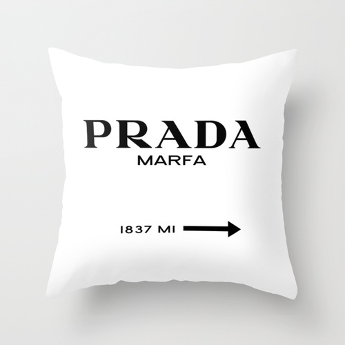 Prada Marfa Throw Pillow: Prey Goods, Bedrooms Decoration, Interiors Design, White Throw Pillows, Marfa Throw, Art Throw, Products, Gossip Girls, Throw Pillows Covers