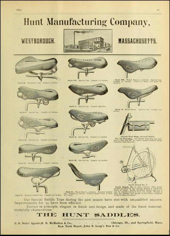 Hunt saddles 1894...