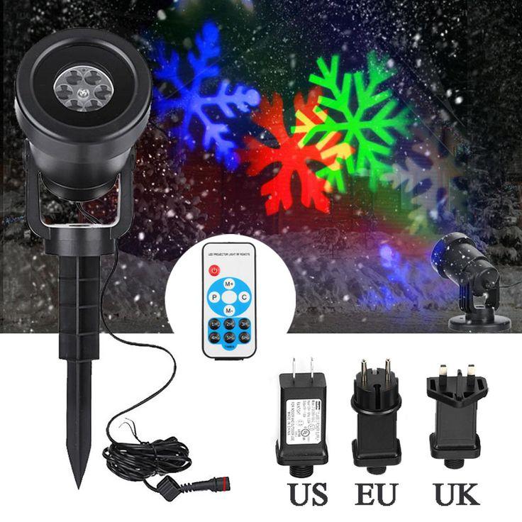 12 Patterns LED RGB Laser Stage Light Outdoor Landscape Garden Projector Moving Laser Stage Light for DJ Disco Christmas Party