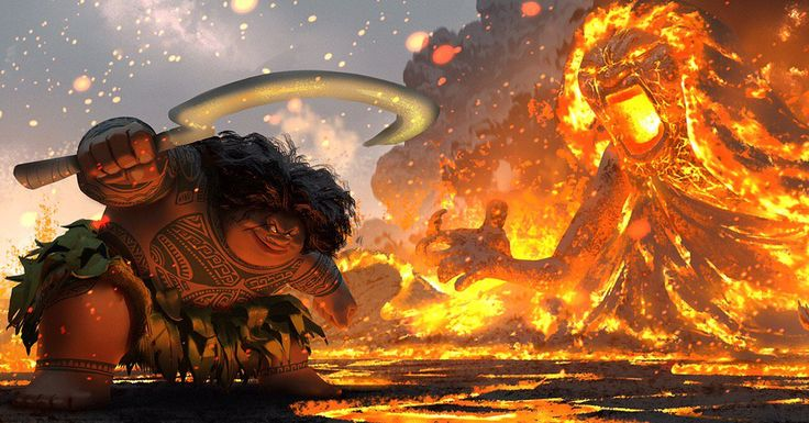 Concept art by Ryan Lang for Moana