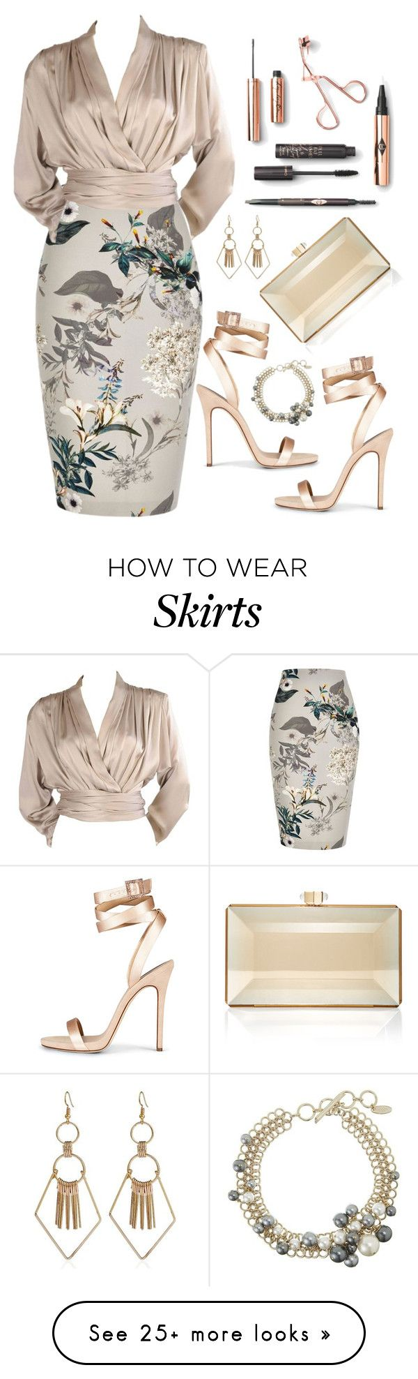 """""""Untitled #794"""" by ashantay87 on Polyvore featuring River Island, Yves Saint Laurent, Judith Leiber and Lanvin"""